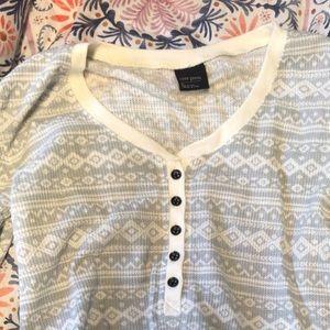 Nordstrom cozy thermal sleep shirt (never worn!!)